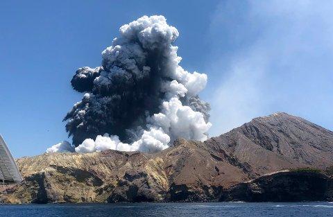 Vulkanutbruddet på New Zealand har krevd flere menneskeliv. Foto: AP / NTB scanpix