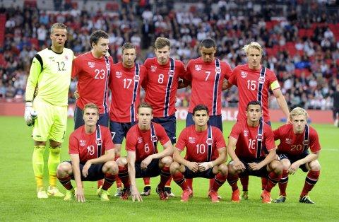 FÅR KRITIKK: Det norske landslaget i fotball.