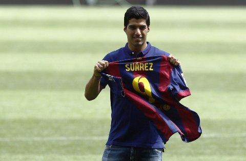 SCORET: Luis Suarz scoret sitt første Barcelona-mål.