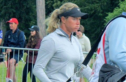 LANGT UNDER PARI: Stjernegolferen Suzann Pettersen måtte forlate British Open allerede etter to runder.