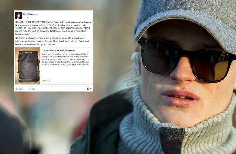 SYRLIG KOMMENTAR: Sosiolog og artist Kjetil Rolness bruker Kong Haralds egne ord i sin syrlige kommentar til Louis Vuitton-salget til Marius Borg Høiby.
