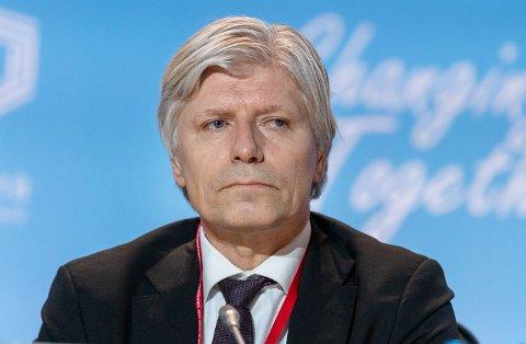 NEDTUR: Miljøstatsråd Ola Elvestuen (V) på klimatoppmøtet i Katowice, Polen, før jul. I hans første år som statsråd økte klimautslippene i Norge.