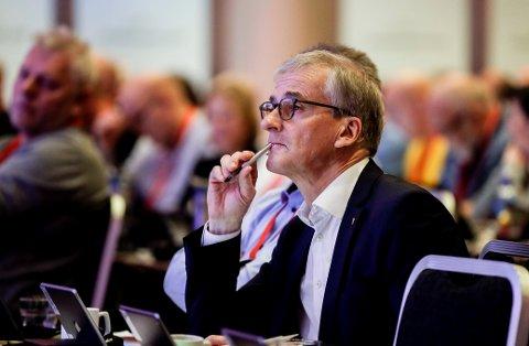 Ap-leder Jonas Gahr Støre på Fellesforbundets landsmøte.