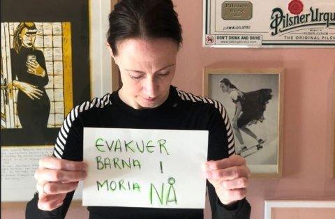 Linn Winsnes Rosenborg er bekymret og redd - særlig for barna i Moria.