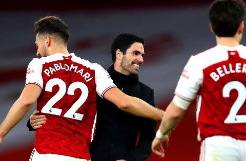 FÅR ØNSKENE INNFRIDD? Arsenal-manager Mikel Arteta har grunn til å smile dersom klubben får inn forsterkningene de ønsker seg før januarvinduet stenger.