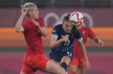 Caroline Weir scoret Storbritannias mål i 1-1-kampen mot Canada i OL. Foto: Fernando Vergara / AP / NTB