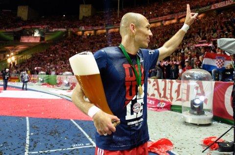 MATCHVINNER: Arjen Robben scoret målet som sendte Bayern München i føringen mot Borussia Dortmund. Helt på tampen økte Thomas Müller til 2-0.