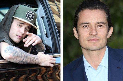 BLE LEDD UT: Justin Biber fortsetter bråket med Orlando Bloom i sosiale medier.