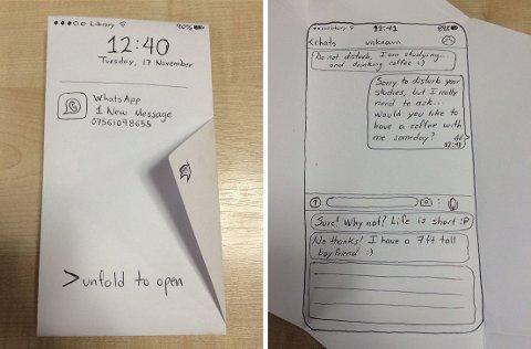 KAFFEDATE: Denne invitasjonen fikk Naomi av en fyr på biblioteket.