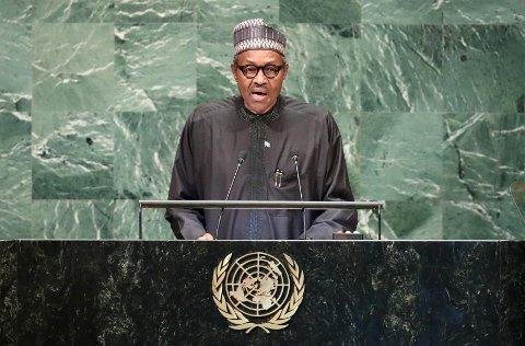 Nigerias president Muhammadu Buhari, her avbildet i FNs hovedkvarter i New York tidligere i høst, har måttet dempe uvanlige rykter om seg selv.