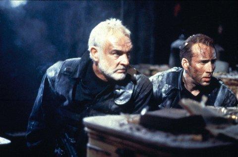 KLASSIKER: «The Rock» med Sean Connery og Nicolas Cage fra 1996 er av mange regnet som tidenes beste actionfilm. Her er Connery og Cage fra filmen.