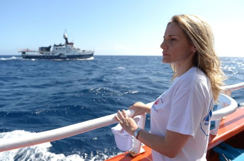 Regina Catrambone og ektemannen startet i fjor det første privat-drevne redningsprosjektet i Middelhavet.