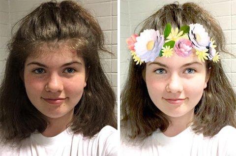 17 år gamle Tiril Flatebø har skrevet et innlegg i Aftenposten om Snapchat og filterbruk.