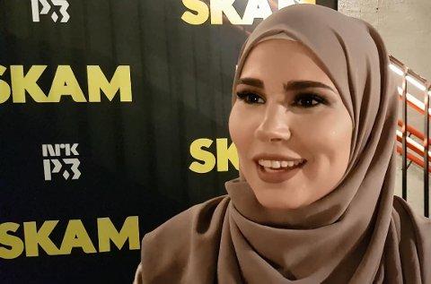 Iman Meskini fortalte om hva hun kom til å savne mest ved Skam på avslutningsfesten på Sentralen i Oslo fredag.