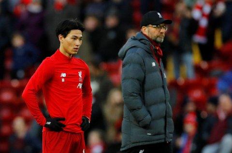 NY SPILLER: Liverpool og manager Jürgen Klopp har kjøpt Takumi Minamino i januar.