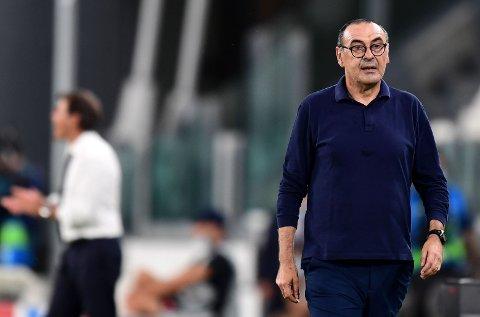 MÅ GÅ: Maurizio Sarri lyktes ikke med å ta Juventus videre fra åttedelsfinalene i Champions League mot Lyon.