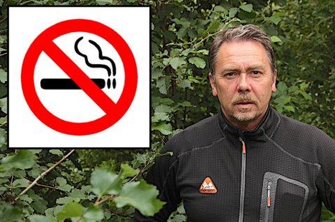 Kommunestyrerepresentant Yngve Hagensen er imot forslaget om total røykeforbud i arbeidstiden i Målselv kommune. Han mener forslaget stigmatiserer en gruppe.