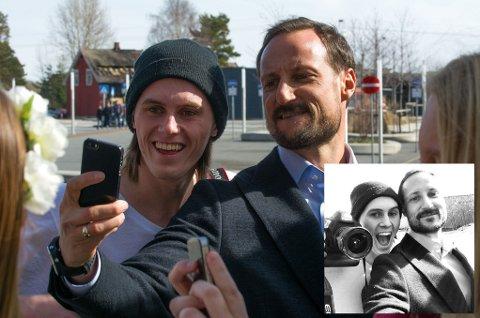Mats Grimsæth fikk kronprinsen selv til å ta selvie på Thor Heyerdahl vgs. onsdag