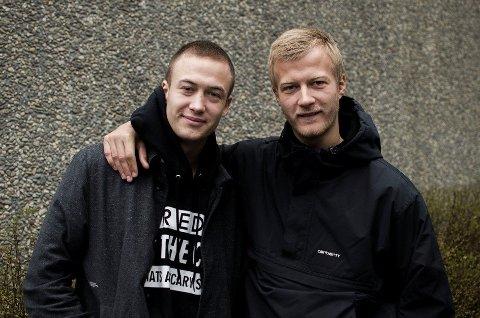 Oscar (18) og Gustav (20) Dyekjær Giese spiller Andy og Casper i Nordvest.