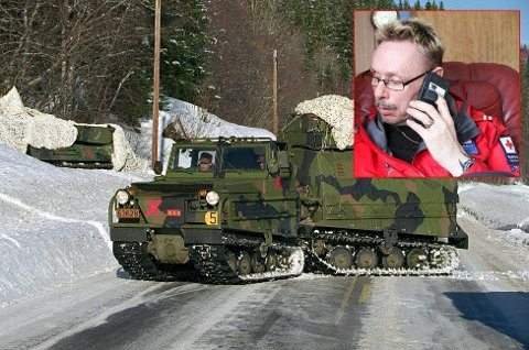 Kenneth Karlsen (Innfelt) i Saltdal Røde Kors etterlyste bandvognene. Nå har de blitt spiker.