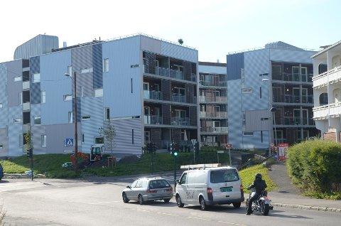 SKULLERUD TORG: Det er den delen av Skullerud Torg som ligger i Johan Scharffenbergsvei 75 som er kandidat til hovedstadens arkitekturpris.