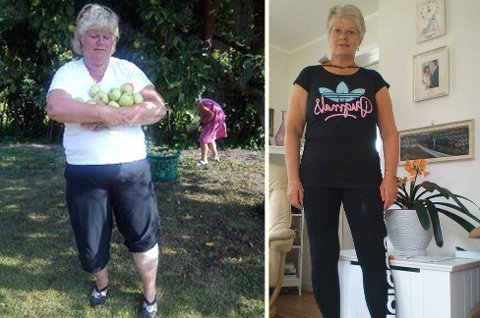 SLANKET: Rita Jenssen (55) slanket bort 34 kilo på tre år. Hun kjente at nok var nok. Foto: Privat