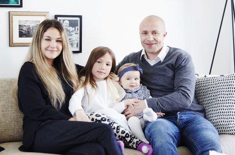 Tromsø-familien bestående av Ronja Worum (28), Rudi Thomassen (33) og barna Thea (7) og Ella (1) vant Norges vakreste hjem 2014.
