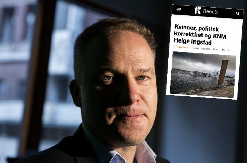 SENKET AV KVINNER: Resett-redaktør Helge Luraas gjør seg sine tanker, han også.