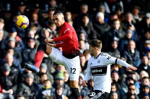TILBAKE PÅ BANEN: Etter å ha vært ute av spill på grunn av en skade, var Chris Smalling tilbake på banen for Manchester United mot Fulham forrige helg.