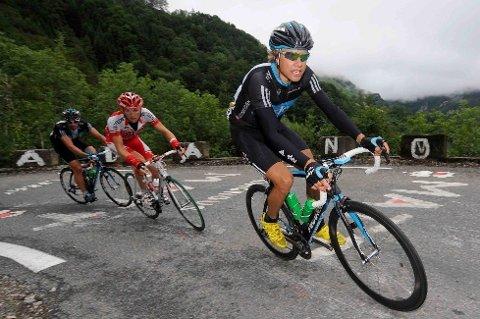 STERK BOASSON: Edvald Boasson Hagen (Team Sky) var med i torsdagens utbrudd. - Jeg skulle helst sett at målgang var i bunnen av fjellet, medga en sliten Boasson Hagen overfor procycling.no etter etappen. - Men selv om etappen ikke passet meg, var det gøy å sitte framme og vise fram trøya.