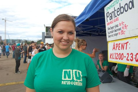 Charlotte Teigen er på Øyafestivlen for første gang med Natur og Ungdom.