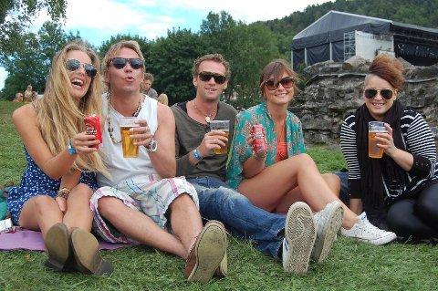 Hanne Alvång, Kim Degerth, Marius Galleberg, Kaja Jacobsen og Caroline Ingeberg er alle flittige festivalgjengere.