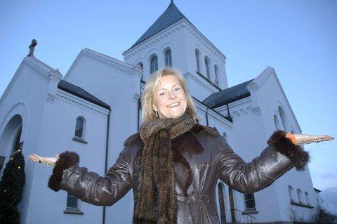 Kommer: Elisabeth «Bettan» Andreassen er på plass i Ullern kirke mandag.