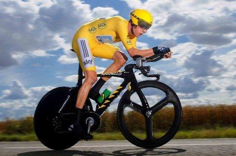 AVGJORDE TOUREN PÅ DENNE SYKKELEN: Britiske Wiggins har hengt med rivalene i fjellene og sust fra de på de to tempoetappene under årets Tour de France.