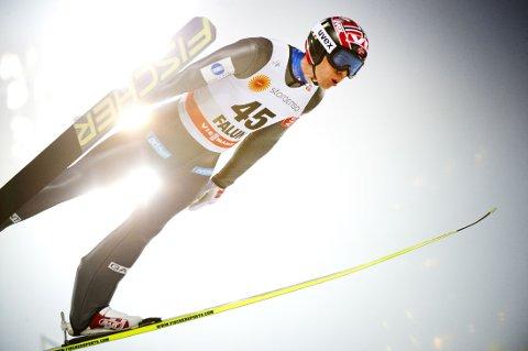 BESTE NORSKE: Anders Bardal ble neste norske hopper på 11.-plassen i Lahti, søndag.