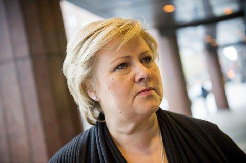 MISTER I BEGGE RETNINGER: Ifølge ny meningsmåling mister Høyre og Erna Solberg velgere til både Ap og Frp.