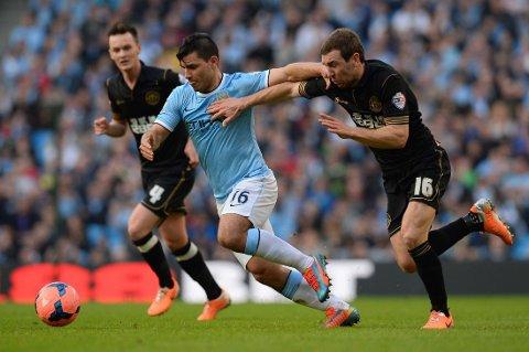SKADET: Sergio Agüero går glipp av møtet med Manchester United.