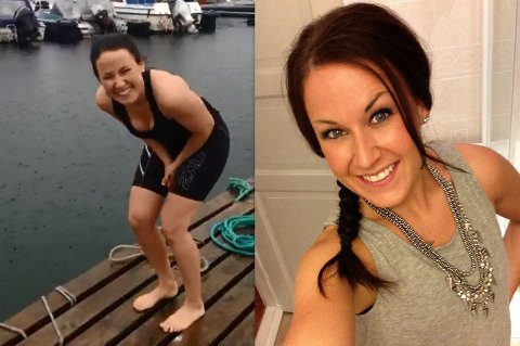 NY TREND: Nina Haugerud hoppet i havet, noe som nå sprer seg på Facebook.