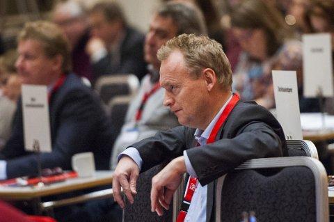 OPPGITT: Partisekretær i Arbeiderpartiet Raymond Johansen snakker ut mot tidligere AP-kolleger. Her under LOs representantskapsmøte i Oslo Kongresssenter.