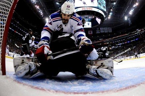 IKKE UNDERDOG: Brian Boyle fnyser av påstandene om at New York Rangers er underdog.