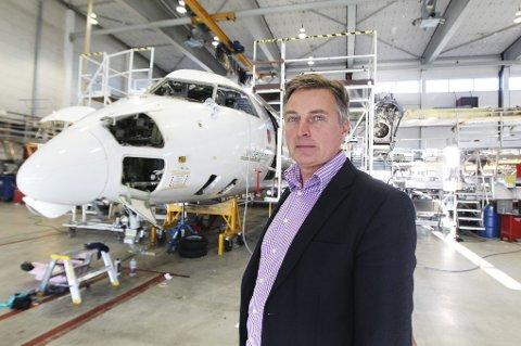Administrerende direktør i Widerøe, Lars Kobberstad, er overrasket over razziaen.