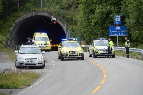 Bjorøytunnelen er stengt etter ulykken.