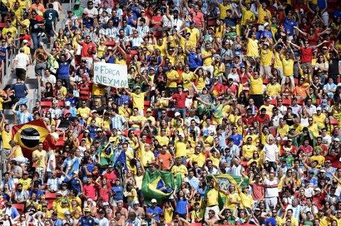 GODT BESØKT: Fotball-VM i Brasil er det nest mest besøkte VM i historien.