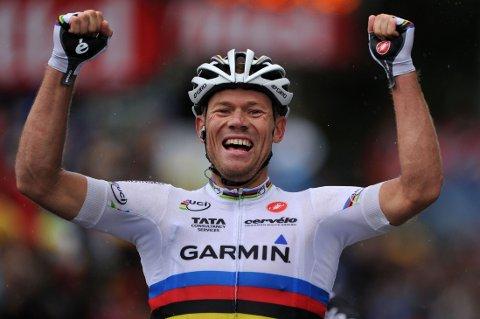 VANT TI GANGER: Thor Hushovd tok imponerende ti etappeseiere Tour de France i løpet av karrieren.