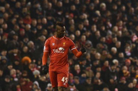 SCORET: Mario Balotelli scoret sitt første ligamål for Liverpool.