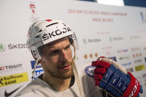 MATCHVINNER: Hockeyproff Jonas Holøs.
