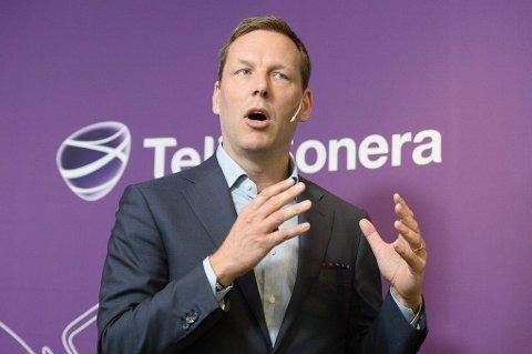 KORRUPSJON: Johan Dennelind, administrerende direktør i Telia Sonera, presenterer selskapets resultat etter første kvartal 2014.