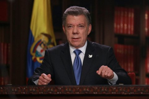 PRESIDENT: Colombias president Juan Manuel Santos.