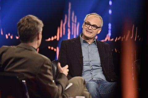 Skuespiller Johan Rheborg er en av gjestene i kveldens NRK-program Skavlan.