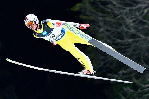 SUVEEREN: Daniel-André Tande levnet ingen tvil om hvam som er Norges beste skihopper i onsdagens NM-renn i Granåsen.